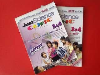 Just Science Clinic Series Primary 3&4 Book 1 Book 2