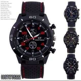 GT Jam tangan Pria Sport Chrono Korea Fashion Quartz