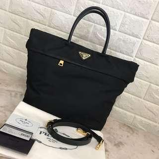 Prada Nylon Bag full set with sling strap