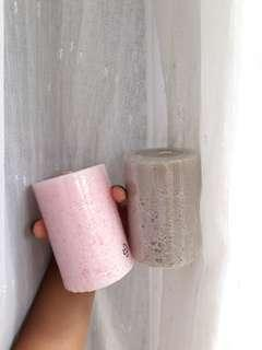 IKEA Pink and Grey Candle