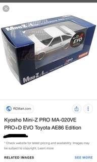 Kyosho mini z ae86