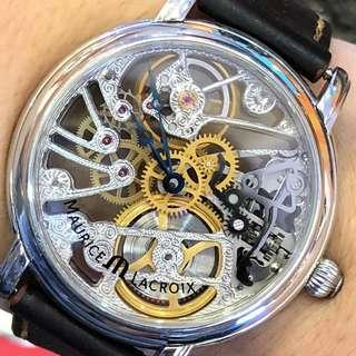 Maurice locroix limited edition 44mm automatic transparent movement
