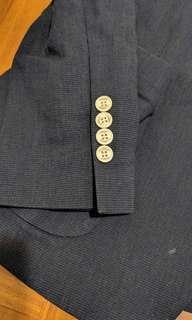 Blue blazer casual korean brand b
