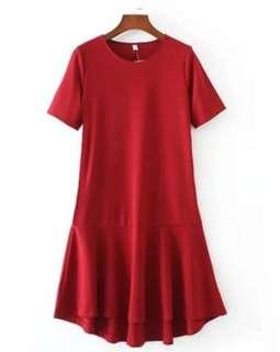 🚚 Wine Red Mermaid Dress