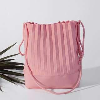[95% New] A Pale Petal aPaddy (Bucket bag in Rose Pink)