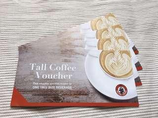 Pacific coffee coupon x 4