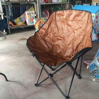 Home and co. Big Moon Chair Leatherette Brown