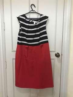 XL Emma and Mitchele Striped Tricolor Dress