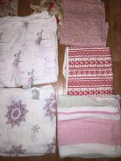 Cotton wraps and blankets