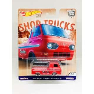 HOT WHEELS 2018 CAR CULTURE SHOP TRUCKS '60s FORD ECONOLINE PICKUP