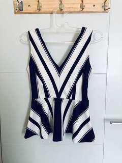 Zara stripes peplum