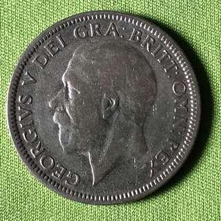 GB 1934 Silver Shilling
