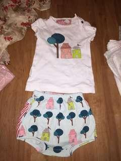 Sooki baby bloomer and shirt size 1