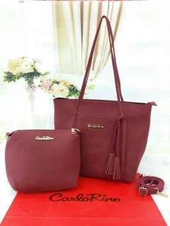 2 in 1 - > Carlo Rino Handbag