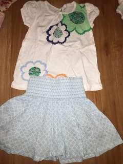 Country road cotton skirt and top