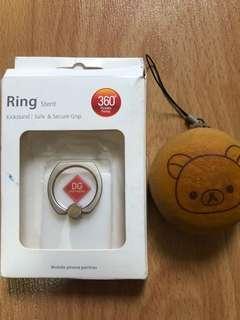 Handphone Ring Holder & rilakuma squishy