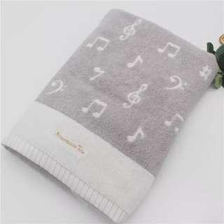 日本 Afternoon Tea 🎀 浴巾 毛巾 手巾 音符 圖案