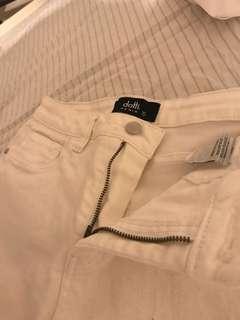Dotti denim white jeans