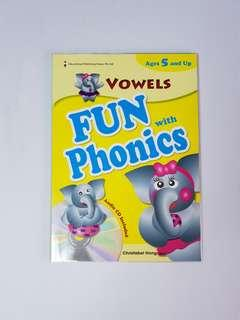 Vowels: Fun with Phonics (Audio CD Included), Children's Educational Book