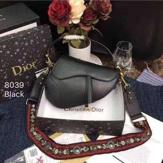 Authentic Quality Bag DIOR Saddle Bag in RED Leather Handbag Sling Bag Christian Dior Collection Women's Bag BLACK