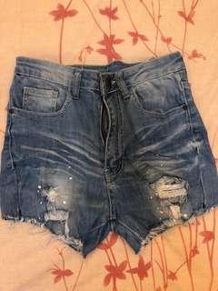 High Waist Short Jeans BKK