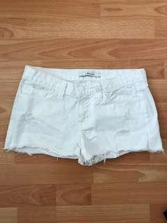 J brand white washed cut off shorts denim size 25