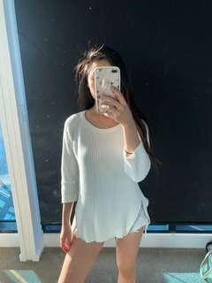 White sweater with zips