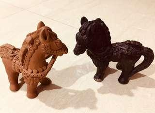 Horse made of clay! Hand crafted!