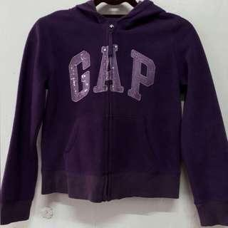 8 - 12 girls GAP kids purple hooded jacket