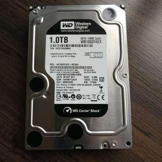 """WD Black 1.0TB SATA 3.5"""" HDD"""