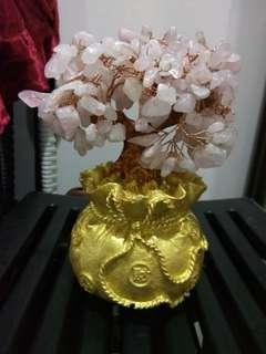 Brand new rose crystal trees cheap sales