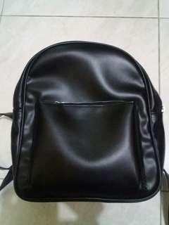 💜 Ransel Backpack Mini Hitam Kulit