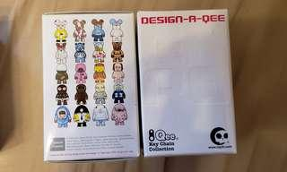 Design a qee figure key chain collection 熊仔模型 bearrick