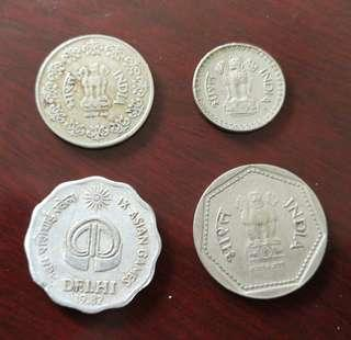🇮🇳India 2nd & 3rd of seven series vintage currency coin印度二与三系列卢比硬钱币