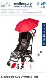 Umbrella for stroller