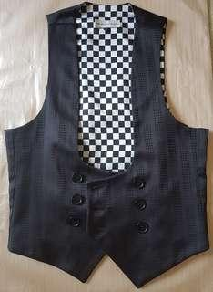 Saint Augustine Academy black vest checkered textured vest