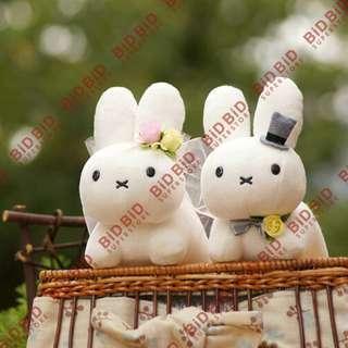 Miffy 白兔 結婚公仔 結婚毛公仔 西式結婚公仔 對裝公仔 Wedding Dolls 結婚禮物 結婚車頭公仔 日本 Sekiguchi 出品