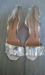 Boohoo silver heels