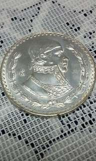 Mexicanos Sliver Coin UN PESO 1957