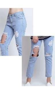 Chocochips ripped jeans