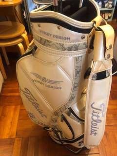 8成新 日版 Titleist Vokey Design Caddy Bag Golf Bag 蛇紋香檳白色