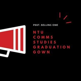 NTU Communication Studies Graduation Gown + Mortar board