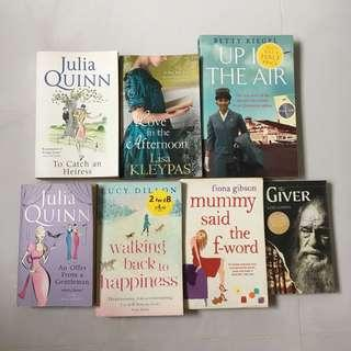 Various English Fiction Paperback Books