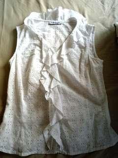El Corte Ingles white sleeveless top