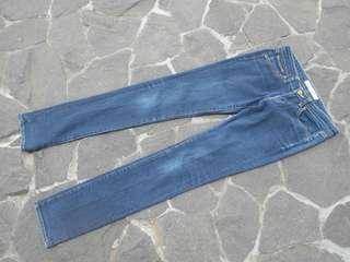 celana jeans uniqlo navy 2
