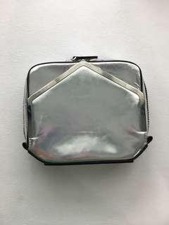 Alexander Wang Adriel Silver Holographic Clutch