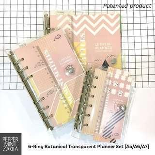 2019 6-Ring Botanical Transparent Planner Set - 1PCS [A5/A6/A7]
