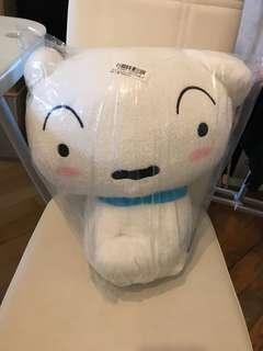 (清貨價)日本景品 Crayon Shinchan 小白 可愛 毛茸茸 公仔 約32cm 高