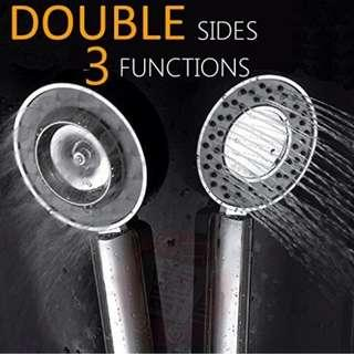 Double Sides High Pressure Handheld Shower Head Multi Functions Showerhead