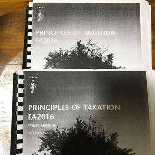 ICAEW cfab principles of taxation
